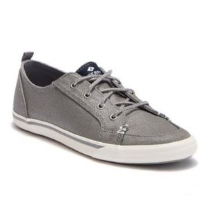 NEW Big Kids Sperry Lounge Metallic Canvas